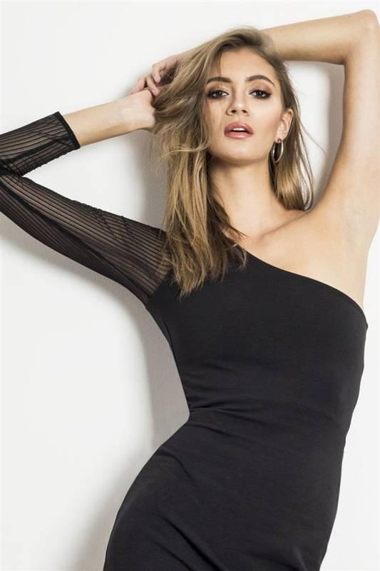 kendall mała czarna wizytowa sukienka ołówkowa na imprezę