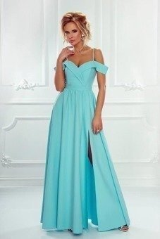 Długa Sukienka Elizabeth - miętowa