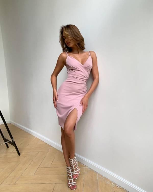 Krótka Sukienka Laura II- puder