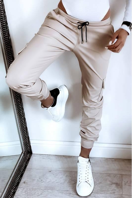 Spodnie  A'La Skóra Latte