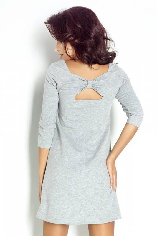ingrid krótka szara sukienka dresowa rozkloszowana na co dzień