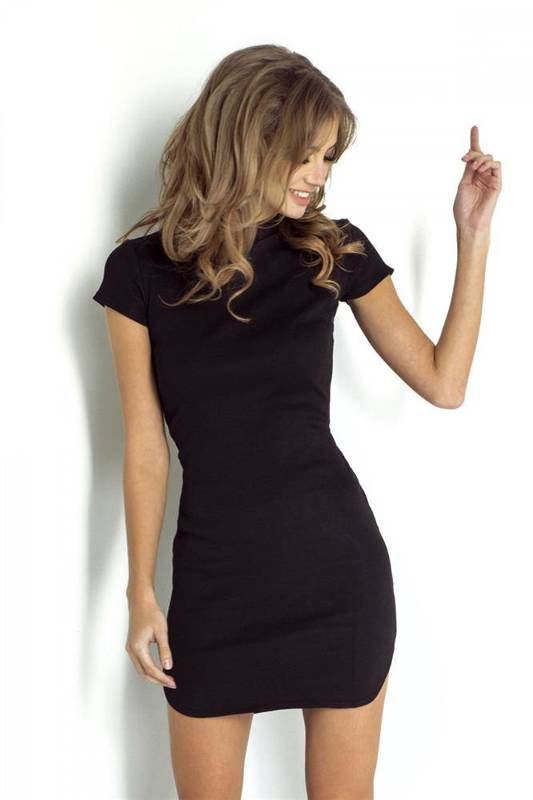 latika mała czarna klasyczna sukienka ołówkowa do pracy