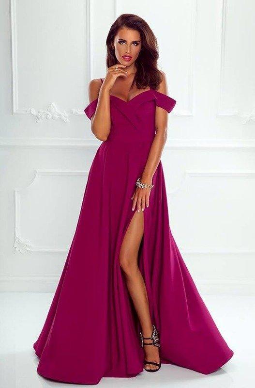 Długa Sukienka Elizabeth - śliwka