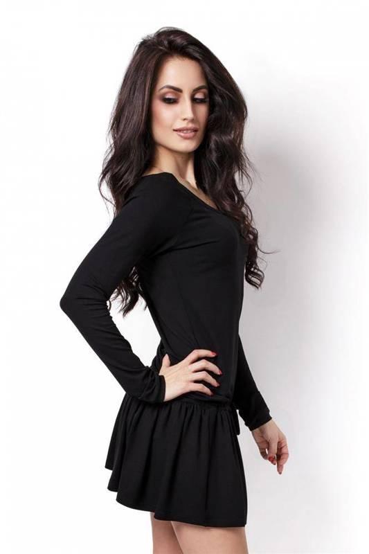 Sportowa  agnes krótka czarna sukienka dresowa