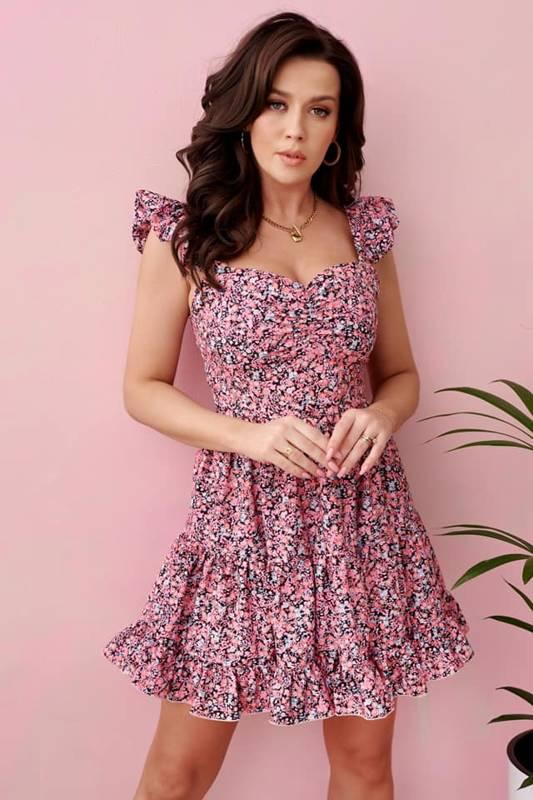 Sukienka Ivvi rozkloszowna w drobne kwiaty
