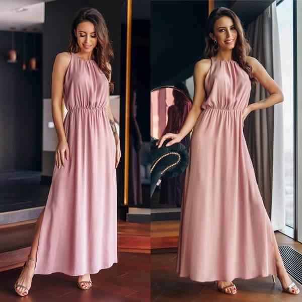 Sukienka Joelle- pudrowy