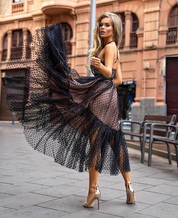 Sukienka LARA- kropki