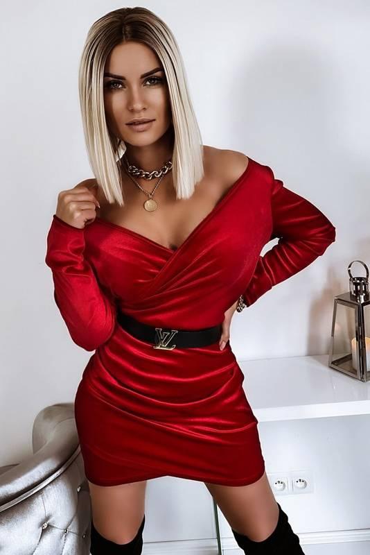 Sukienka Mini Velvet Red