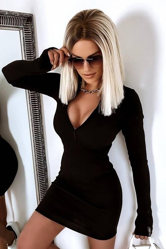 Sukienka  Ołówkowa Zip- Black