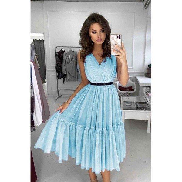 Sukienka Paris-błękitny