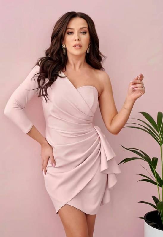 Sukienka Queeny - puder