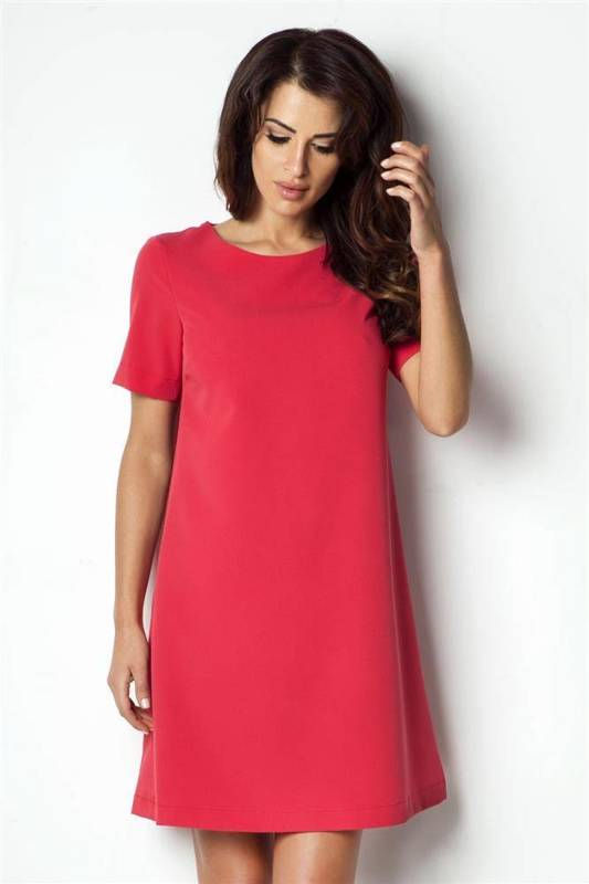 Trapezowa  claudia szara wizytowa mini sukienka rozkloszowana